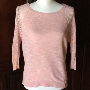 Express pink scoop neck sweater XS